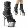 ILLUSION-1015 Black PU/Silver Chrome